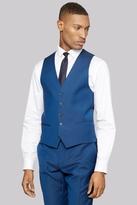 DKNY Slim Fit Electric Blue Tonic Twill Waistcoat