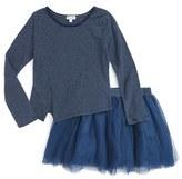 Splendid Girl's Stripe Top & Tutu Skirt Set