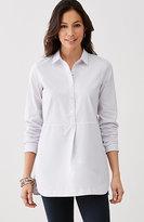 J. Jill Striped Cotton-Stretch Pullover Tunic