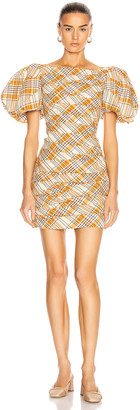 KHAITE Shelly Dress in Orange Multi | FWRD