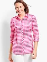 Talbots Breezy Gingham Long Sleeve Shirt