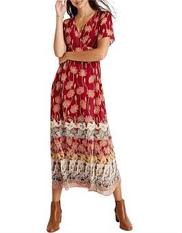 Madewell Retro Maxi Dress In Tall Sunflowers