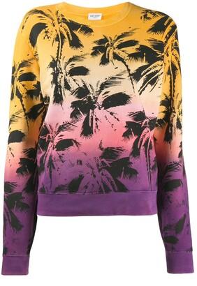 Saint Laurent Palm-Print Sweatshirt