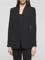 Calvin Klein Long One-Button Suit Jacket