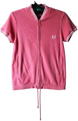 Fred Perry Pink Cotton Jacket for Women