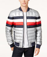Tommy Hilfiger Men's Quilted Striped Jacket