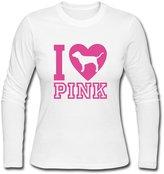 Hera-Boom Women's I Love Pink Victoria's Secret Logo T-shirts XL