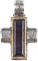 Konstantino Men's Sterling Silver & 18K Gold Cross Pendant with Hawk's Eye