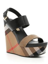 Burberry Leather Wedges
