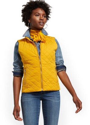 New York & Co. Zip-Front Quilted Vest