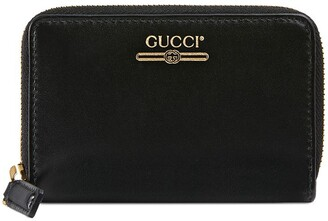 Gucci Zip card case with logo