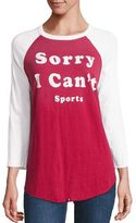 Wildfox Couture Cotton Sorry I Can't Graphic Tee