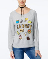 Hybrid Juniors' Hangry Graphic Sweatshirt