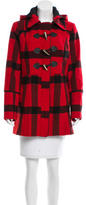 MICHAEL Michael Kors Michael by Michael Kors Plaid Short Coat