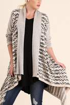 Umgee USA Open Front Knit Cardigan