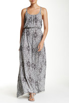 Love Stitch Geometric Print Maxi Dress