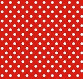 Stokke SheetWorld Fitted Oval Crib Sheet Sleepi) - Primary Polka Dots Red Woven - Made In USA - 26 inches x 47 inches (66 cm x 119.4 cm)