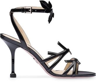 Prada Foliate-Style 90mm Sandals