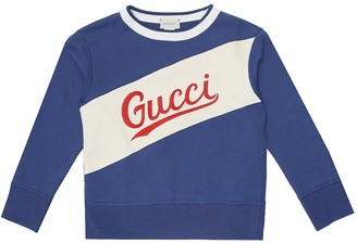 Gucci Kids Logo cotton sweatshirt