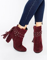 Faith Bethany Tie Back Heeled Ankle Boots