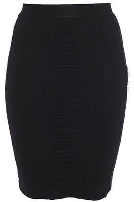 Just Cavalli Lace-trimmed Jacquard-knit Wool Mini Pencil Skirt