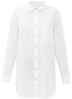 ASCENO Formentera Organic-linen Shirt - White