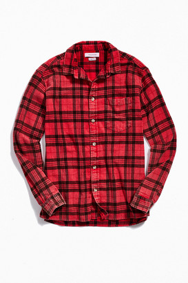 Urban Outfitters Overdyed Flannel Button-Down Shirt