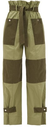 Sea Gabriette Patch-pocket Cotton-twill Trousers - Khaki