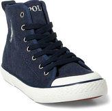 Ralph Lauren Big Kid Jersey Mid-Top Sneaker