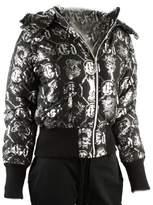 Ed Hardy Womens Logo Puffer Jacket
