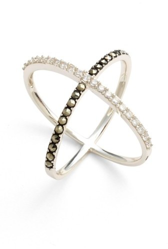 Judith Jack Women's 'Rings & Things' Crossover Ring