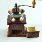 CDSHFVFDG Wood Cast iron European style Brown Manual Coffee Grinder