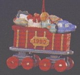 Hallmark Keepsake Christmas Ornament 1990 Noel R.R. COAL CAR XQM576 Miniature
