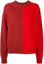 Vaara Eliza colour-block relaxed-fit jumper