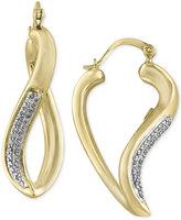 Effy D'Oro by Diamond Twist Hoop Earrings (1/5 ct. t.w.) in 14k Gold