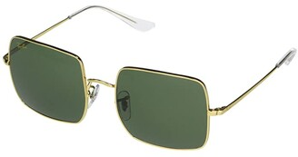 Ray-Ban 54 mm RB1971 Square Metal Sunglasses (Legend Gold/Green) Fashion Sunglasses