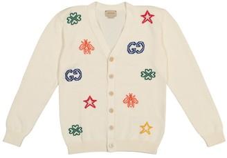 Gucci Kids Cotton jacquard cardigan