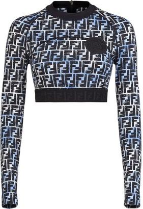 Fendi x Joshua Vides FF print cropped sweatshirt