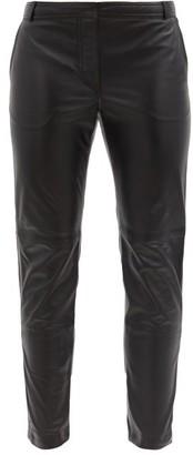Altuzarra Henry Zip-cuff Leather Slim-leg Trousers - Black
