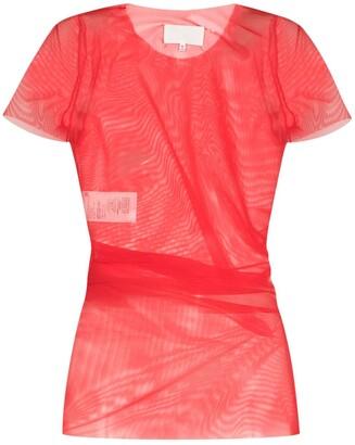 Maison Margiela sheer draped mesh T-shirt