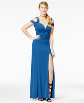 Emerald Sundae Juniors' Cold-Shoulder Gown, A Macy's Exclusive Style