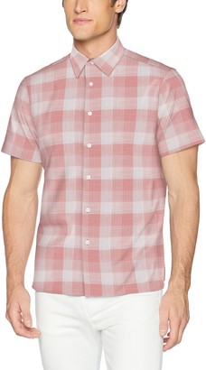 Perry Ellis Men's Essential Plaid Pattern Shirt