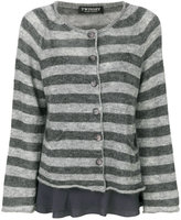 Twin-Set striped flared sleeves cardigan
