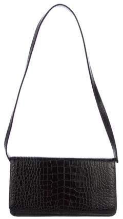 Manolo Blahnik Alligator Shoulder Bag