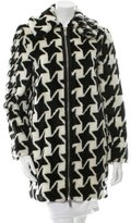 Stella McCartney Faux Fur Houndstooth Jacket