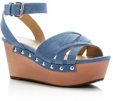 Marc Fisher Camila Suede Ankle Strap Platform Wedge Sandals