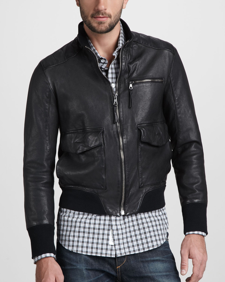 Rag and Bone Rag & Bone Hughes Leather Jacket