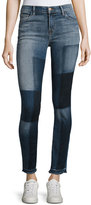 J Brand Jeans 811 Mid-Rise Skinny Patchwork Jeans, Reunion