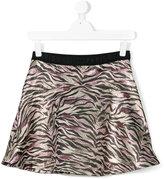 Kenzo tiger print mini skirt - kids - Polyamide/Viscose/Metallic Fibre/polyester - 14 yrs