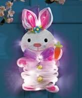 GetSet2Save Hanging Lighted Geo Mesh Bunny